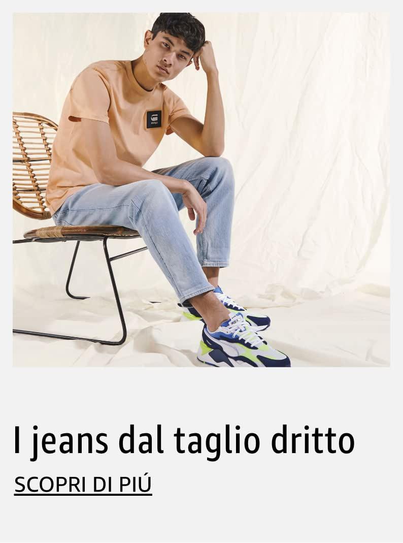 I jeans dal taglio dritto