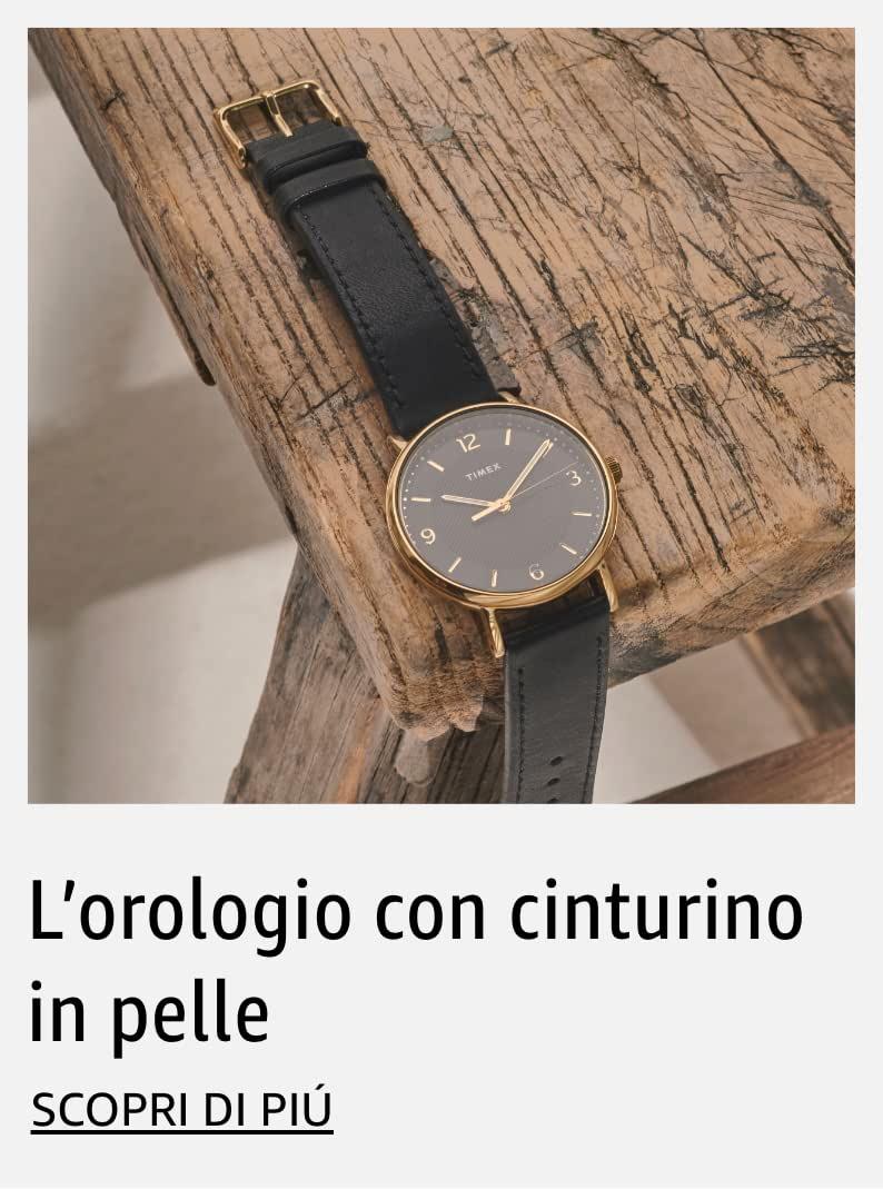 L'orologio con cinturino in pelle