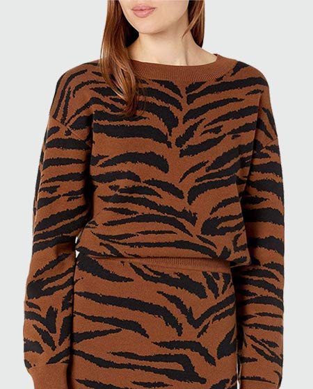 The Drop Animal Print Sweater
