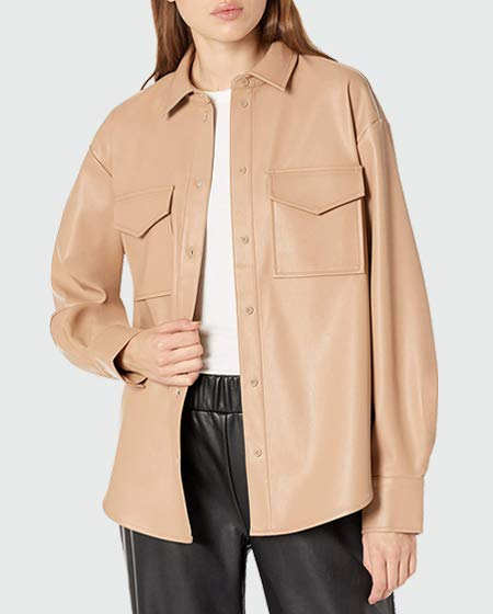 The Drop Faux Leather Shirt