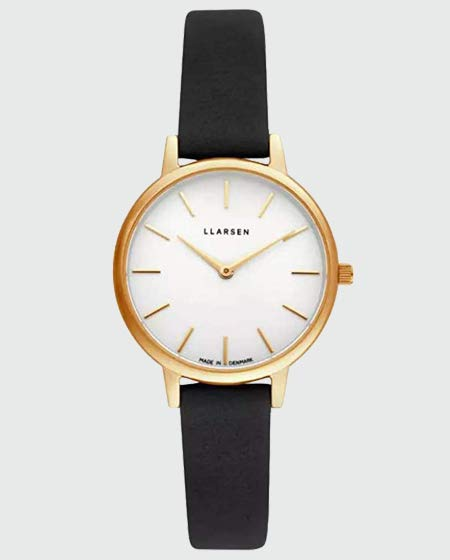LLARSEN Analogue Quartz Watch with Leather Strap