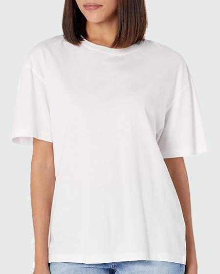 The Drop Short Sleeve Drop Shoulder Jersey T-Shirt