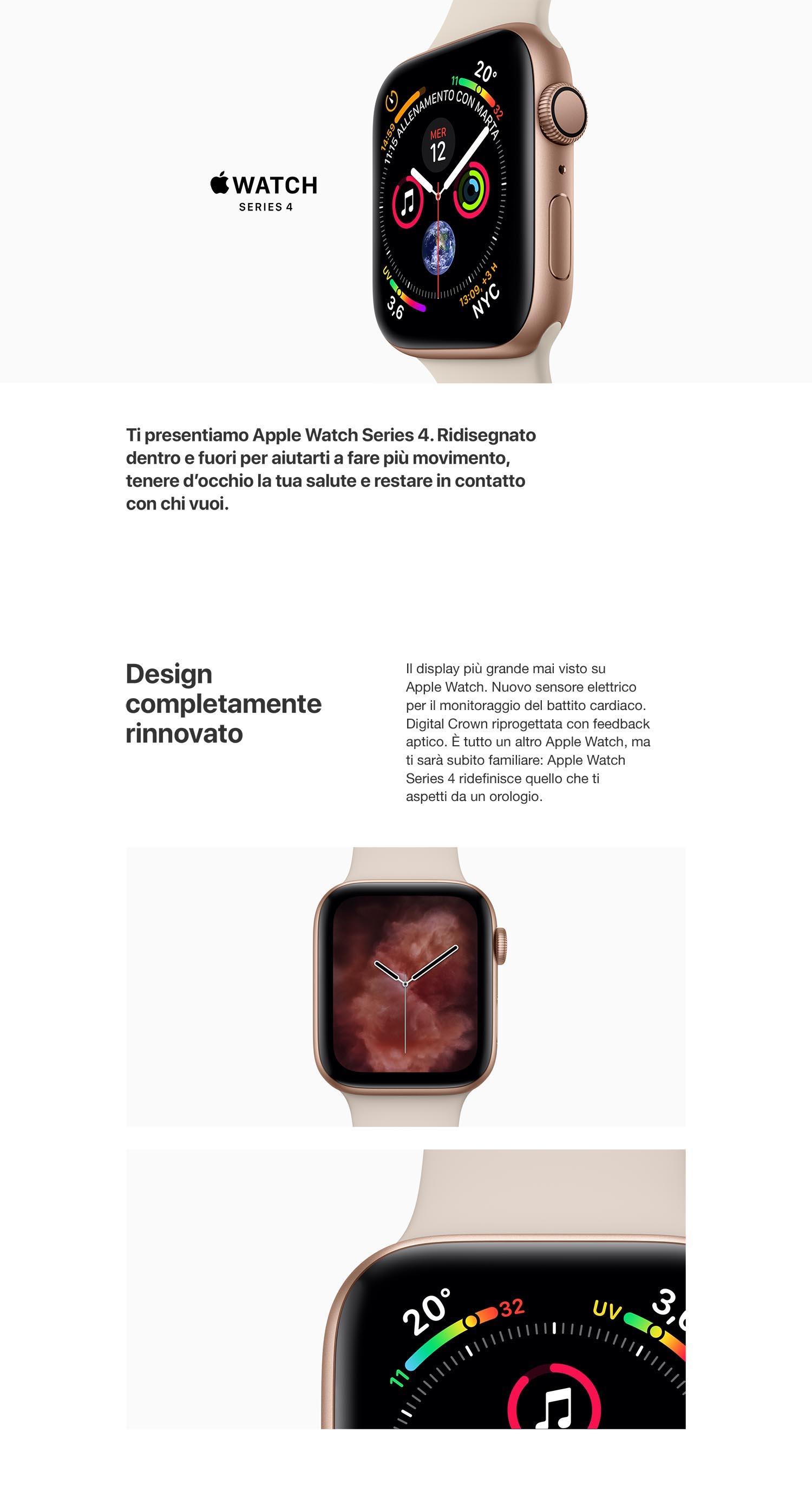 Apple Watch Series 4 (GPS) cassa 44 mm in alluminio colore Argento e  cinturino Sport Bianco 5fa6d8a4738