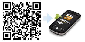 Installazione con il codice QR dell'App-Shop di Amazon per Android