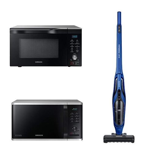 Scopri i Prodotti Samsung in Promozione: Microonde Combinato, Scopa Elettrica e Microonde con Grill