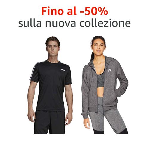 Fino al -50% sulla nuova collezione di abbigliamento sportivo