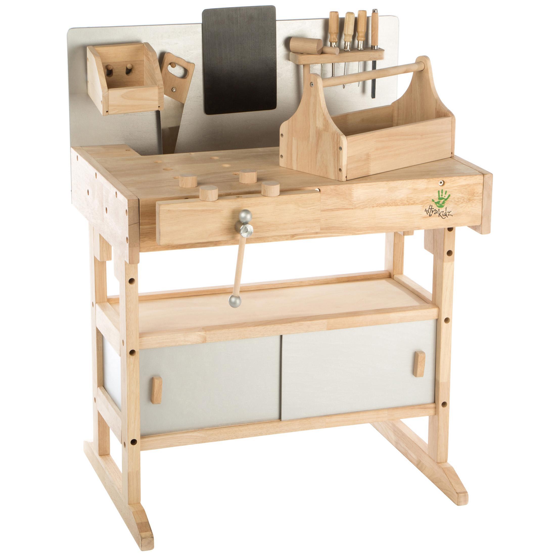 Ultrakidz banco da lavoro per bambini in legno massiccio - Banco da lavoro cucina legno ...