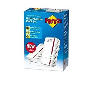 FRITZ!Powerline 100E Set Pack Int left
