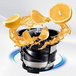 Panasonic MJ-L500RXE Slow Juicer Sistema di Estrazione, Senza Lame, Accessorio Ricette di Frutta ...