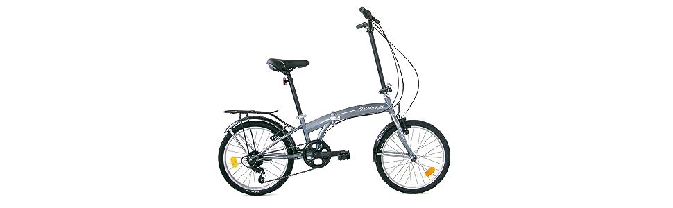 microbike 20, bici città, bici pieghevole, cambio 6 velocità, adulto, donna, uomo, unisex