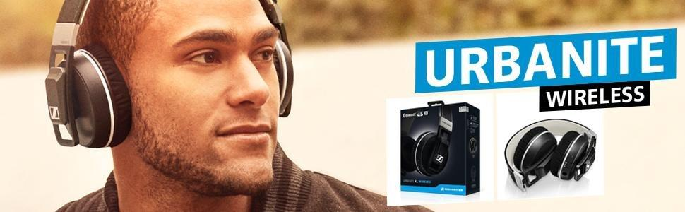 Sennheiser Urbanite XL Cuffia Stereo Wireless, Bluetooth 4.0, Nero/Antracite