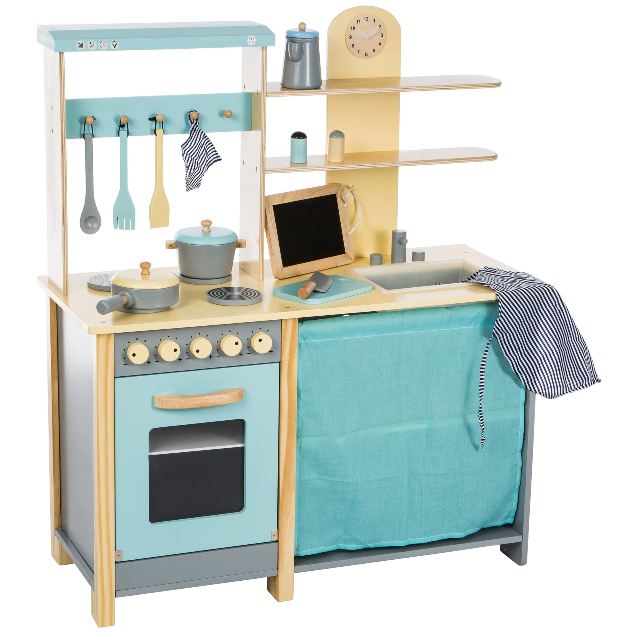 Ultrakidz cucina giocattolo comfort in legno naturale for Cucina giocattolo