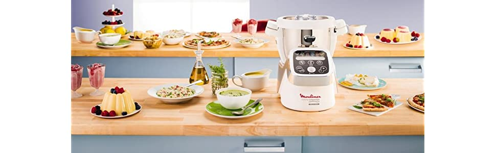 Moulinex HF802AA1 Cuisine Companion Robot da Cucina Multifunzione ...