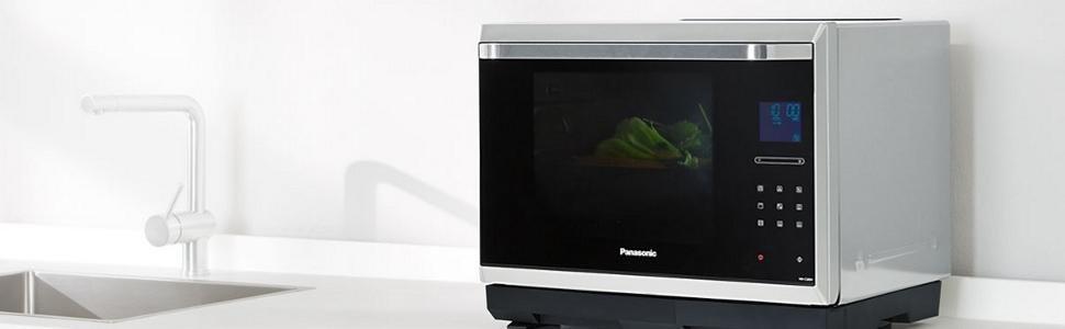 Panasonic nn cs894sepg forno a microonde 32 lt - Forno combinato microonde e tradizionale ...