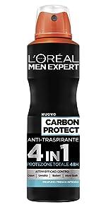 Deodorante Spray Garbon Protect anti-traspirante 4in1 150 ml
