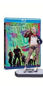 Blu-ray con statua di Harley Quinn