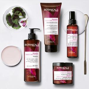 geranio, rimedio, brillantezza, shampoo, balsamo, maschera, trattamento, senza, risciacquo, bellezza