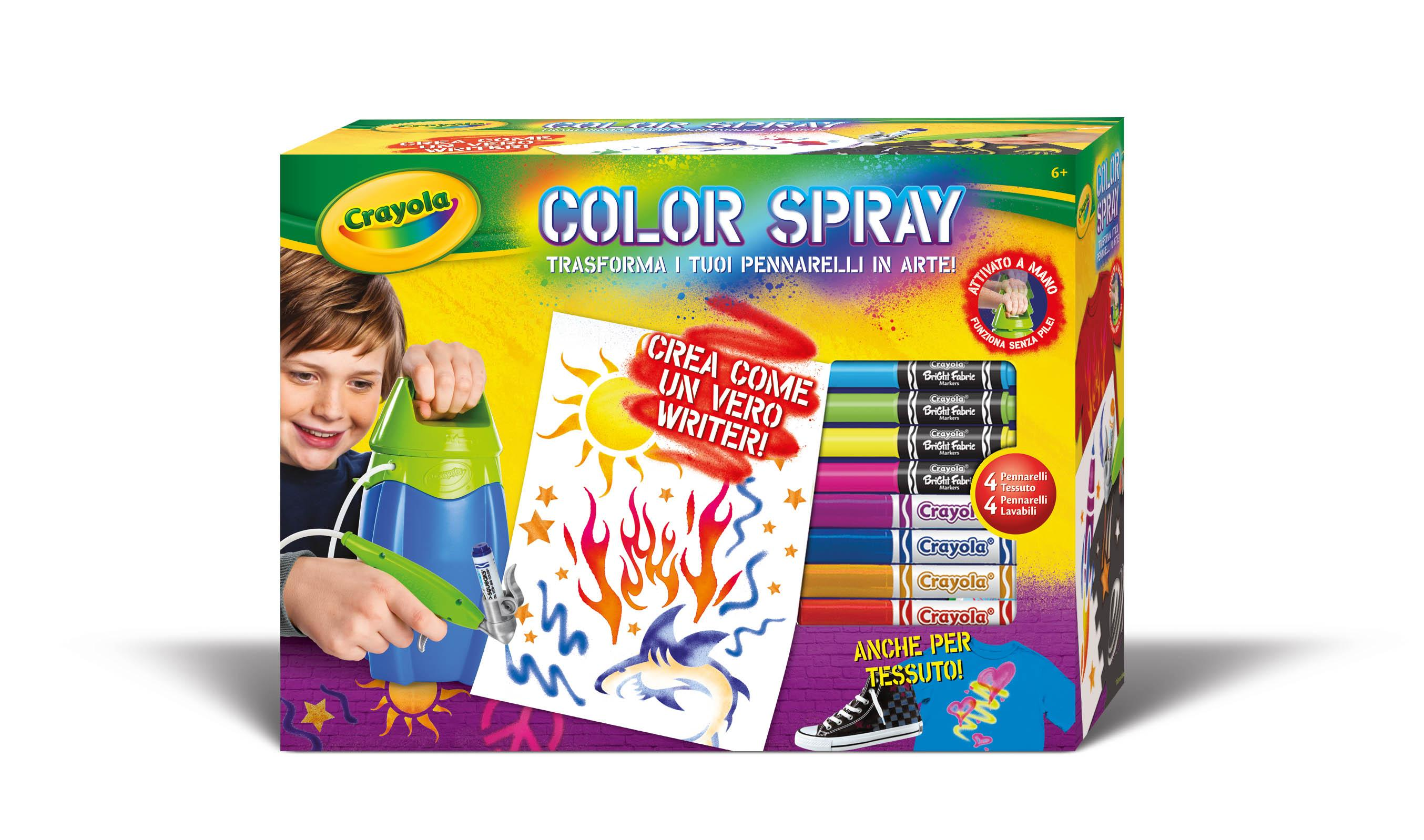 crayola 04 8733 color spray aerografo giochi