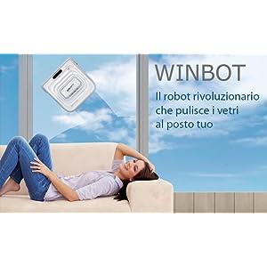 Imetec ecovacs winbot w710 robot per pulizia automatica di vetri e finestre casa e - Pulizia vetri finestre ...