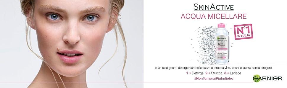 Garnier, Acqua, micellare, tutto, in, uno, 1, detergenza, pelle, sensibile, sensibili,