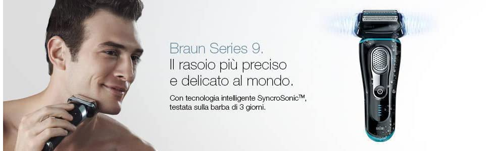 Braun Wet & Dry Serie 9 9040s Rasoio elettrico a lamina