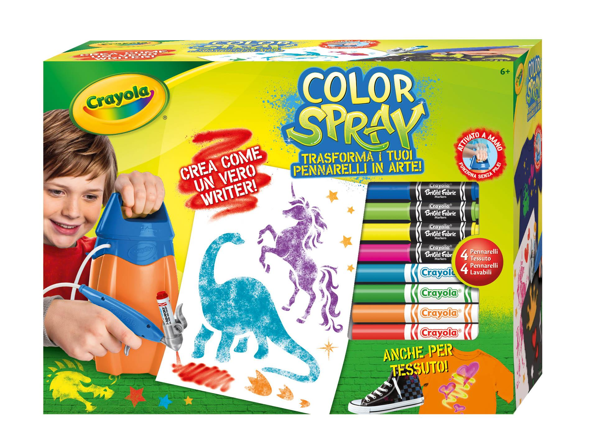 Crayola 04 8738 color spray giochi e giocattoli for Aerografo crayola amazon