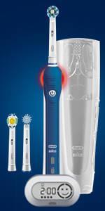 Oral-B Pro 600 Crossaction Spazzolino Elettrico Ricaricabile, ac/battery, 3d effect