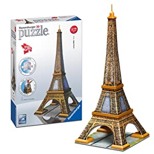 ravensburger 12556 tour eiffel puzzle 3d building giochi e giocattoli. Black Bedroom Furniture Sets. Home Design Ideas