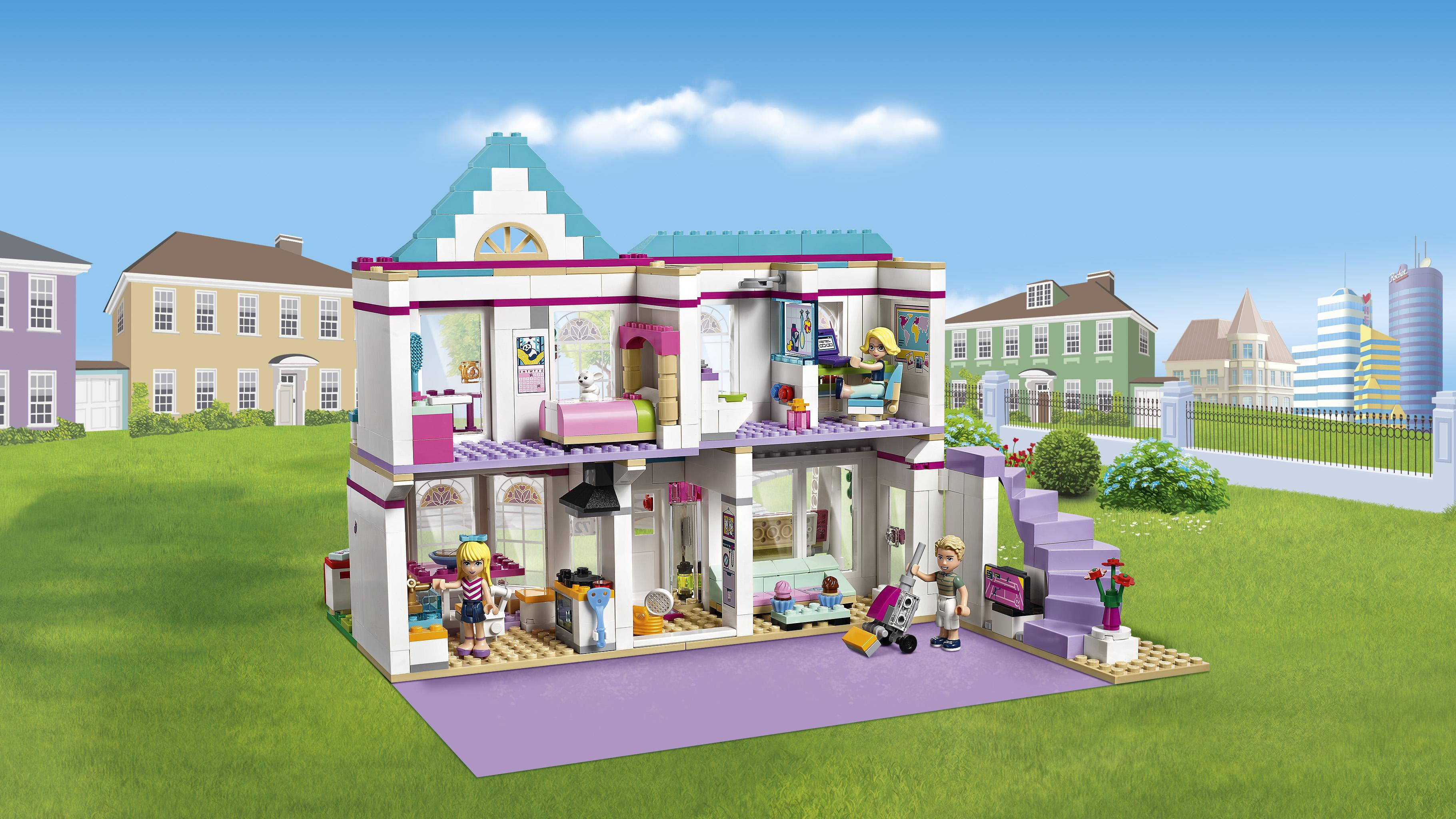 Lego friends 41314 set costruzioni la casa di stephanie for Costruisci tu stesso piani di casa