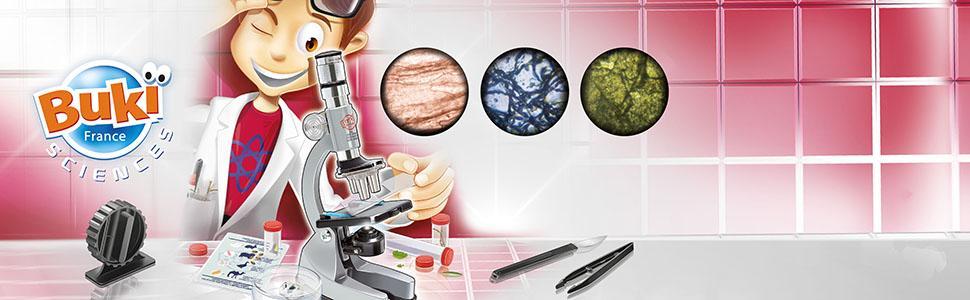 Buki France MS907B-Microscopio 30 esperimenti
