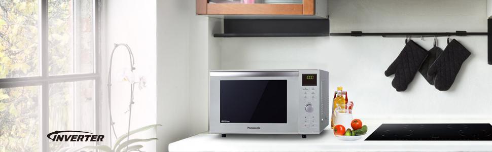 Panasonic nn df385mepg forno a microonde combinato 1000 - Forno combinato microonde e tradizionale ...