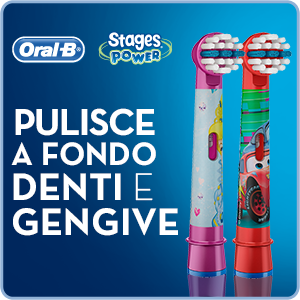 Oral b stages testine di ricambio con personaggi disney for Oral b porta testine