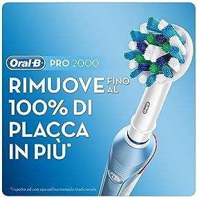 Oral-B Pro 2000 Cross Action Spazzolino Elettrico
