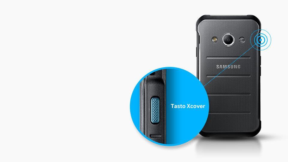 samsung galaxy xcover 3 smartphone 8 gb argento italia. Black Bedroom Furniture Sets. Home Design Ideas
