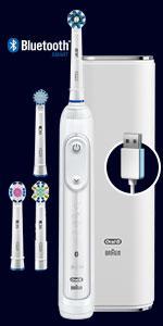 Oral-B Genius 9000 Spazzolino Elettrico Ricaricabile, Bianco