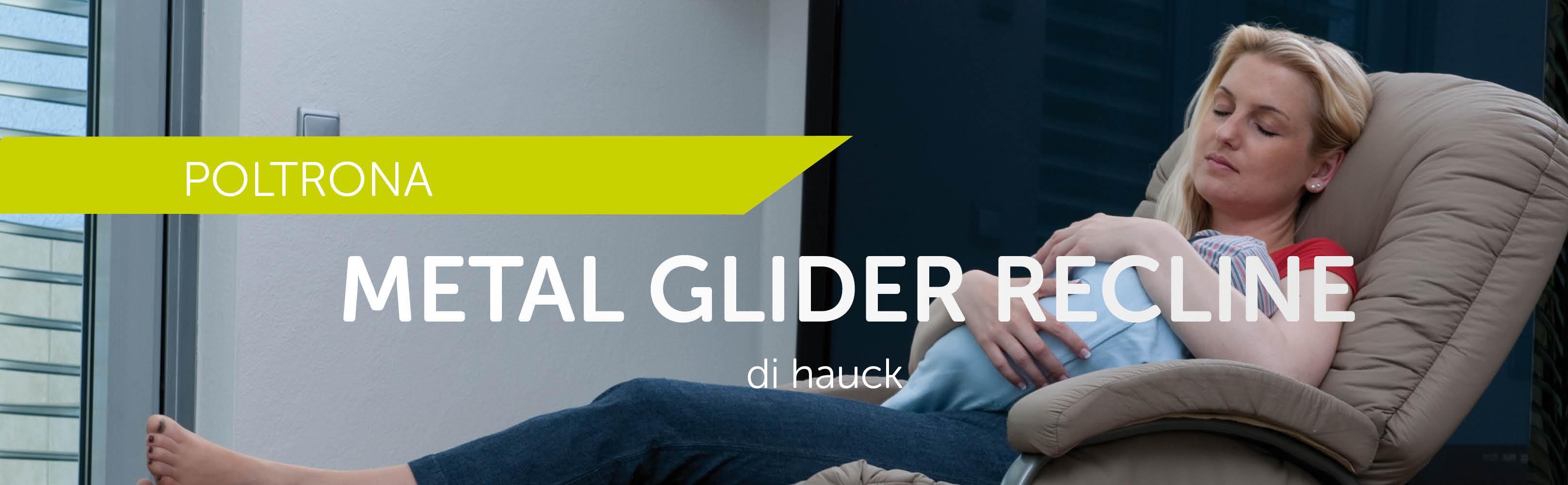 Hauck Metal Glider Poltrona Allattamento e Rilassamento fino a 120 kg Sgabello Incluso Crema Tasche Laterali con Bracciuoli Funzione Dondolamento Girevole e Regolabile