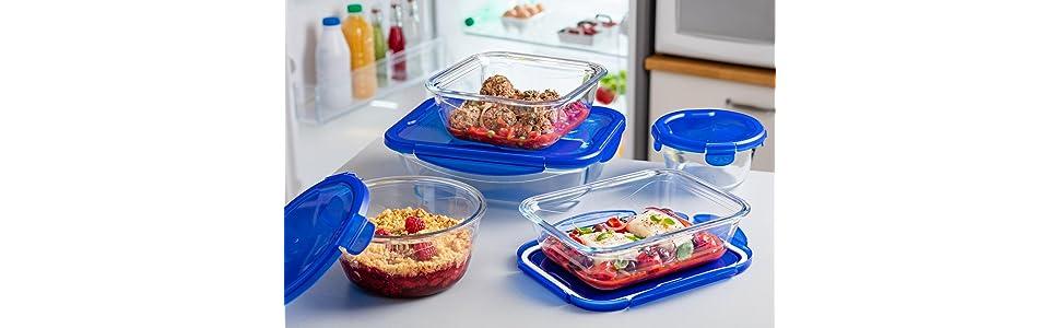 Cook & Go, conservare, vetro, forno, microonde, teglia, ermetico, contenitore, cucinare, cottura