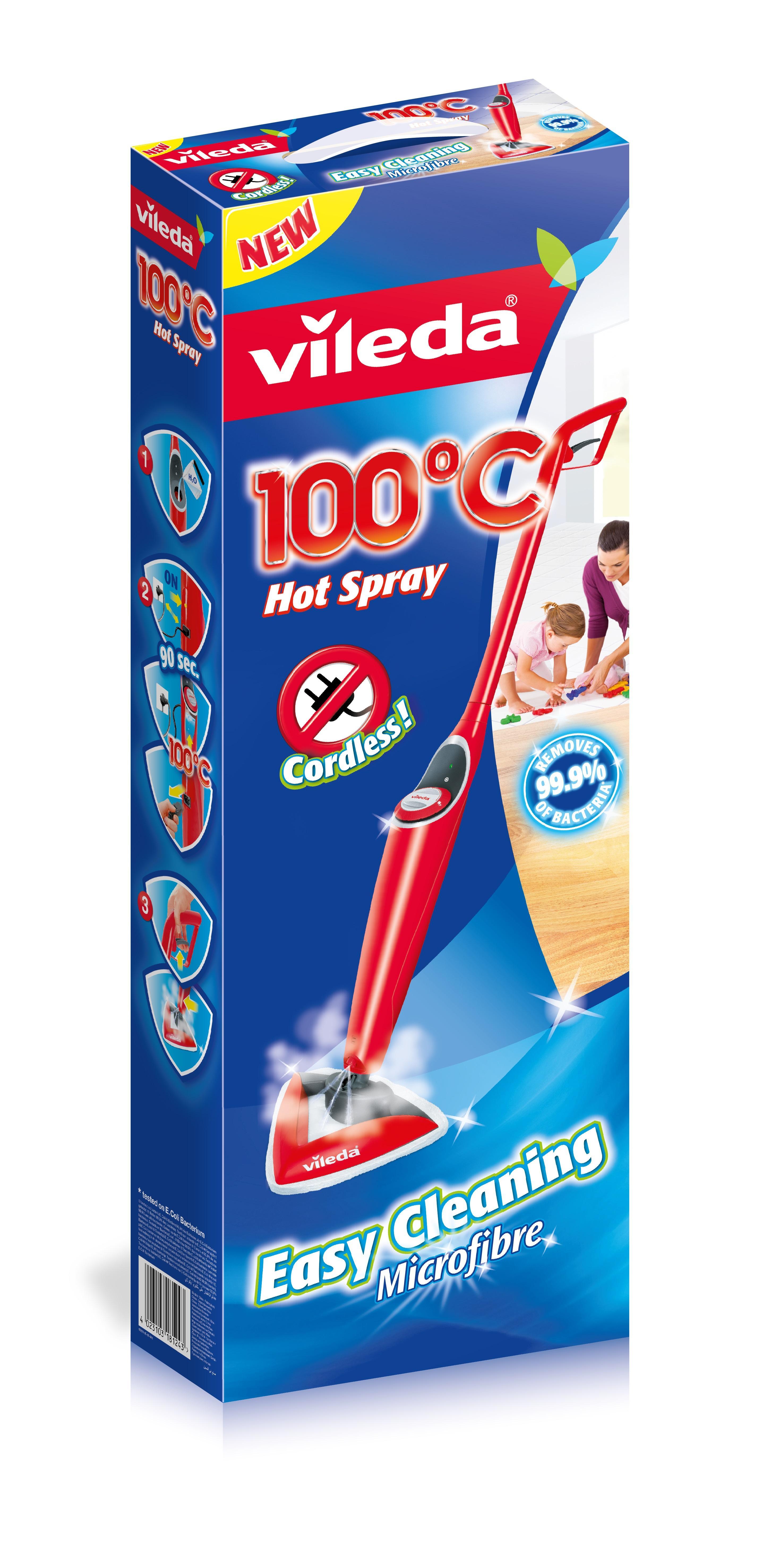 Vileda 100 c hot spray lavapavimenti con acqua ad alta for Lavapavimenti elettrico