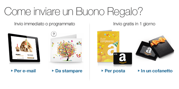 Como inviare un Buono Regalo Amazon.it?