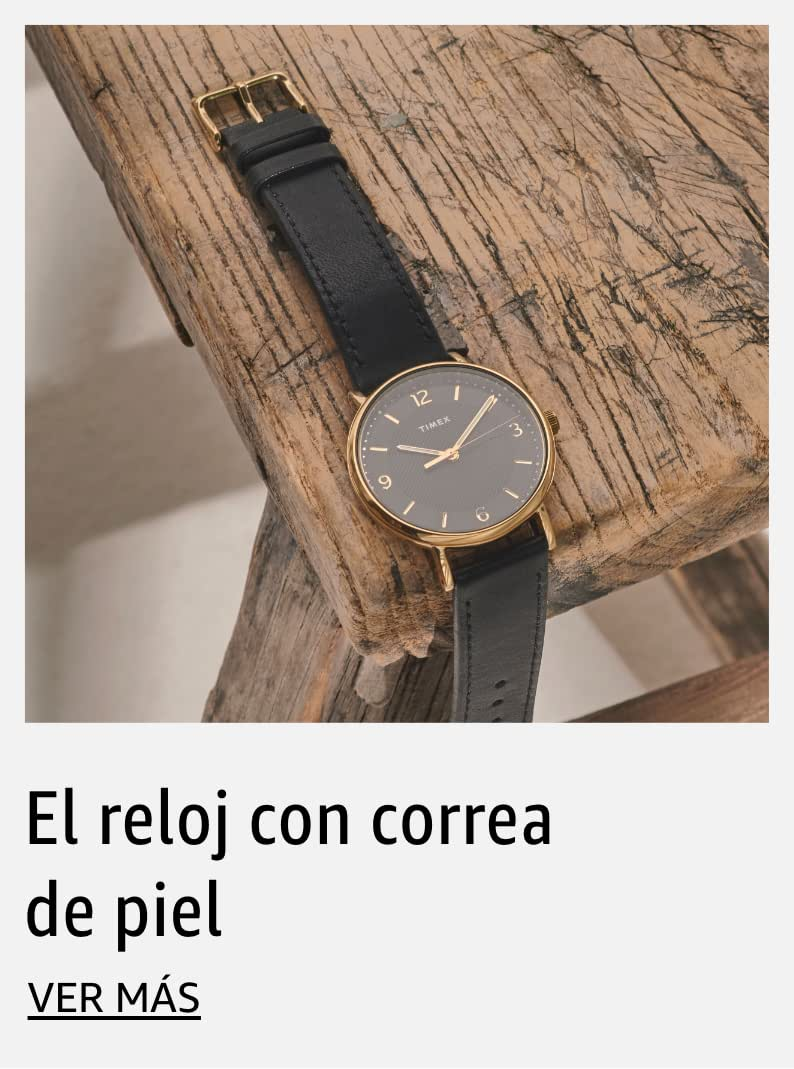 El reloj con correa de piel