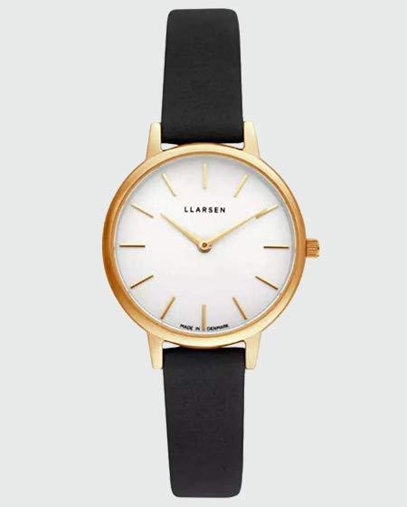 LLARSEN Analogue Quartz Watch with Leather Strap