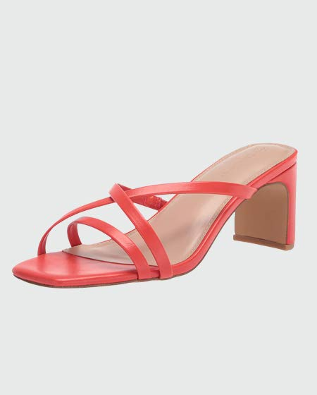 The Drop Women's Strappy Square Toe Heeled Sandal