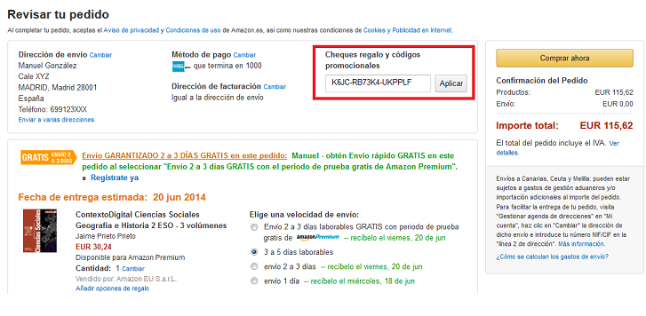 CODIGO PROMOCIO NAL AMAZON