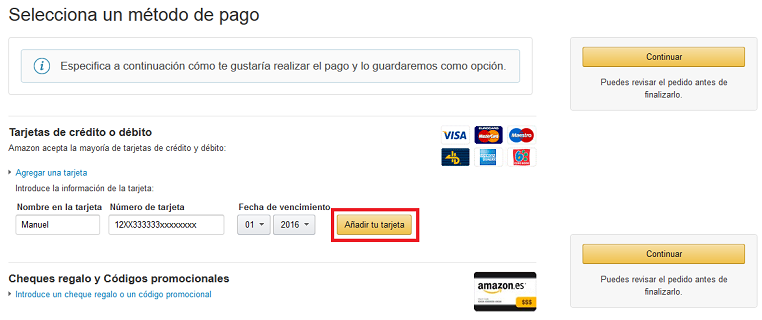 CHEQUE REGALO AMAZON 2019 AAGOSTO