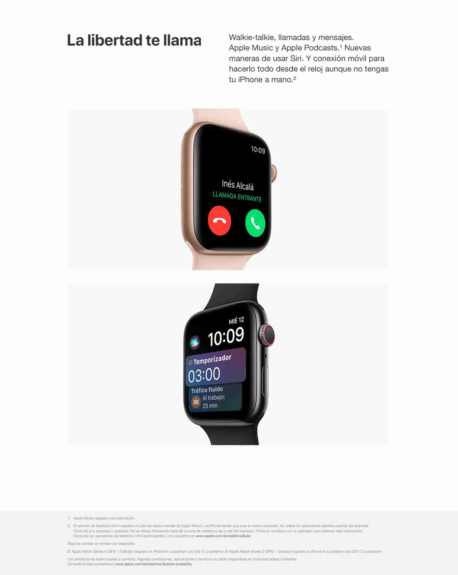 Apple Watch Series 4 - Reloj inteligente (GPS + cellular) con caja de 40 mm de aluminio en plata y correa Loop deportiva en color nácar: Amazon.es