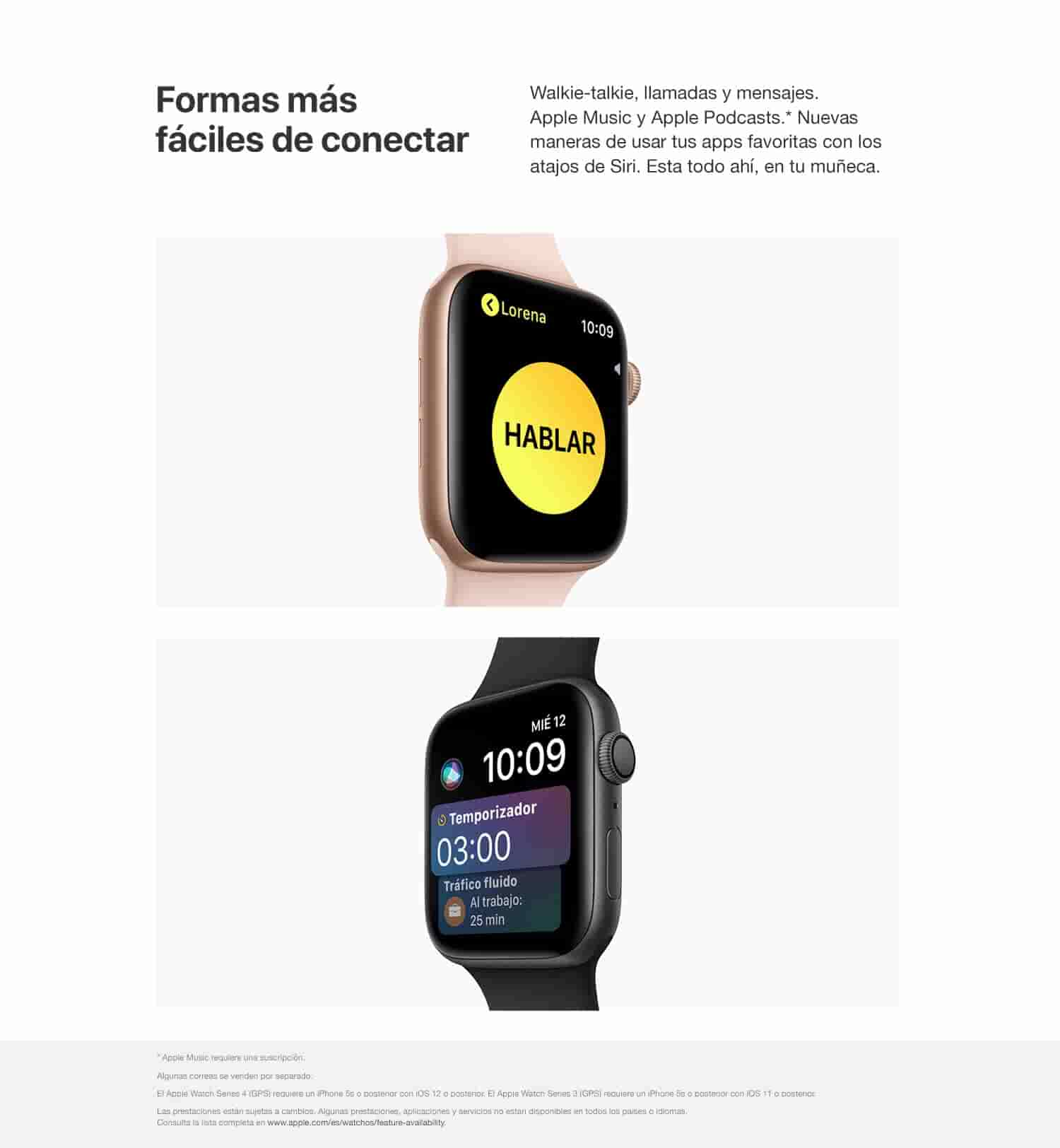 Apple Watch Series 4 (GPS) con caja de 40 mm de aluminio en plata y correa deportiva blanca: Amazon.es