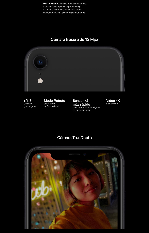 3bd5f8bb097 Apple iPhone XR (de 128GB) - Negro: Apple: Amazon.es