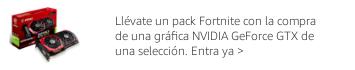 Llévate un pack de contenido exclusivo FORTNITE con la compra de una gráfica NVIDIA GeForce GTX de una selección