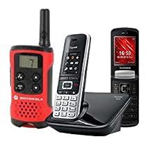 Selección de Walkie Talkies, Telefonos fijos y senior