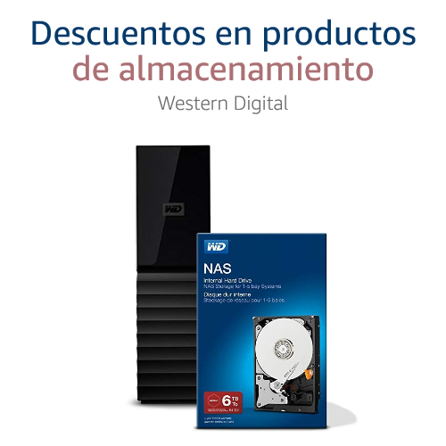 Descuentos en productos de almacenamiento Western Digital